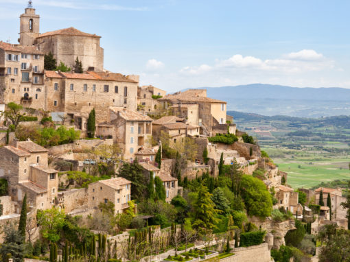 Gordes, Provence, France, Spring, Valley of Luberon. One of the most beautiful villages in France - Le Village de Gordes dans la Vallée du Luberon