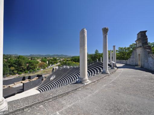 The extensive Roman ruins at Vaison-La-Romaine, Provence, France - Le Théatre antique de Vaison la Romaine